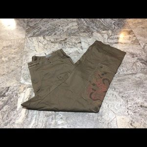 Venezia Tan Pants w/Embroidered Leg (22)